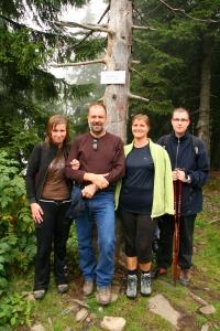 Mogielica - ja, Tata, Mama, brat (wujek Waldek robił zdjęcie)